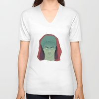 stiles V-neck T-shirts featuring Stiles by runningwithhellhounds