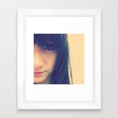 Brown Eyed Girl Framed Art Print
