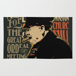 Winston Churchill Pop Art Quote Rug