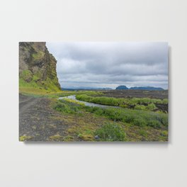 The Winding River Metal Print