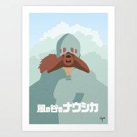 nausicaa Art Prints featuring Nausicaa by Ryann'sWorld