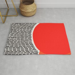 Sunshine And Rain Abstract Rug