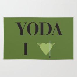 I heart Yoda Rug