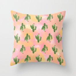Cacti Art  Throw Pillow