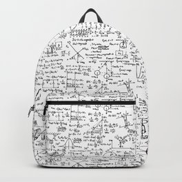 Physics Equations on Whiteboard Backpack