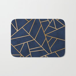 Art Deco Blue Bath Mat