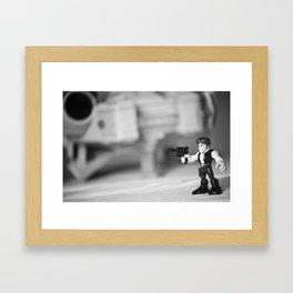 Han Solo & the Millennium Falcon Framed Art Print