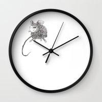 beastie boys Wall Clocks featuring Wee Beastie by T.K.Dolan