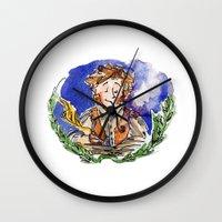 the hobbit Wall Clocks featuring Hobbit by Kris-Tea Books
