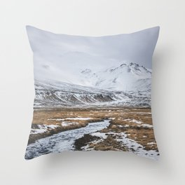 Heading to the Mountains - Landscape and Nature Photography Throw Pillow