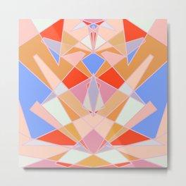 Flat Geometric no.35 Shapes and Layers Metal Print