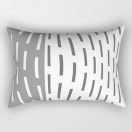 Pattern In Gray And Whte Rectangular Pillow