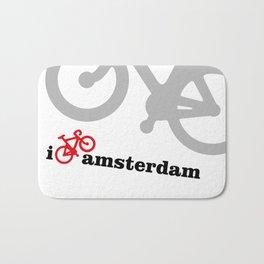 I Love Amsterdam - Red Bike Bath Mat