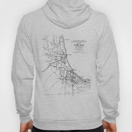 Vintage Map of The Chicago Railroad Network (1913) Hoody