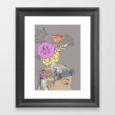 flower dreamer in color Framed Art Print