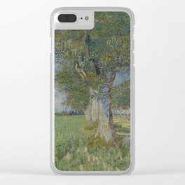 Farmhouse in a Wheatfield Clear iPhone Case