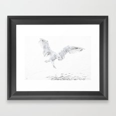Soft Landing Framed Art Print