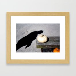 Little white pumpkin Framed Art Print