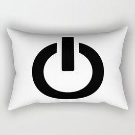 Power Button Rectangular Pillow
