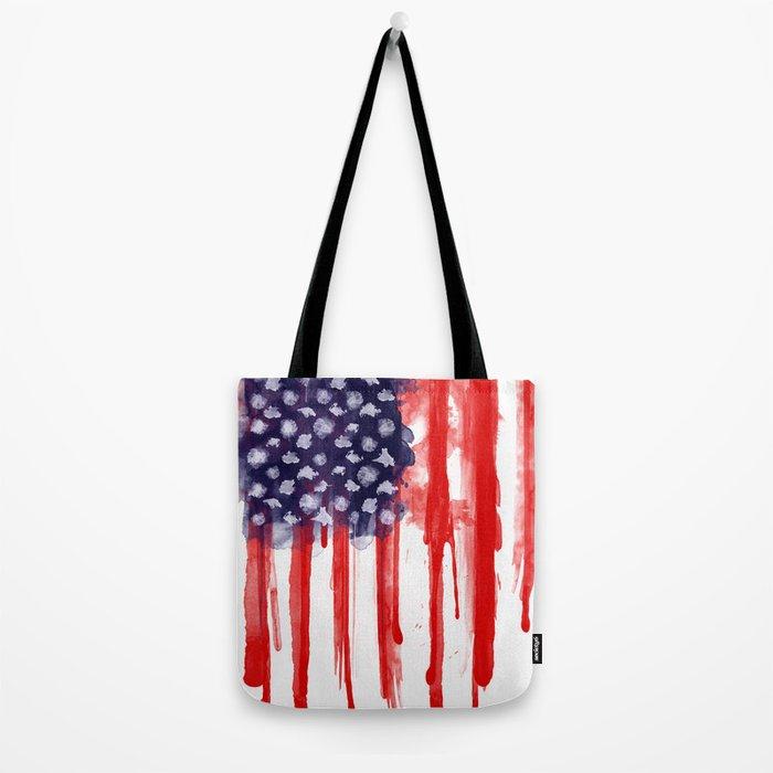 American Spatter Flag Tote Bag