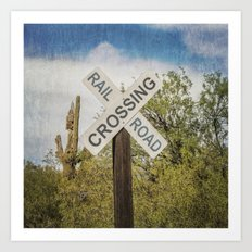 Railroad sign Art Print
