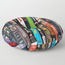 VHS Collection Floor Pillow