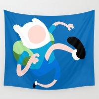 finn Wall Tapestries featuring Finn by Polvo