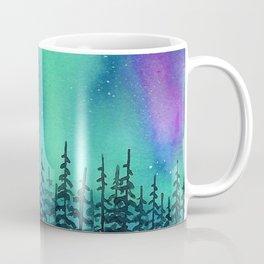 """Wilderness Lights"" Aurora Borealis watercolor landscape painting Coffee Mug"