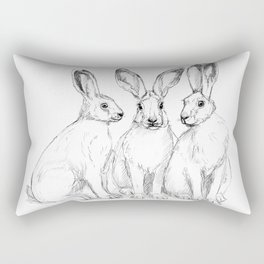 Three Hares sk131 Rectangular Pillow