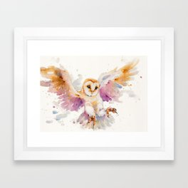 Twilight Owl Framed Art Print