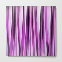 Lavender, Iris and Grape Stripy Pattern Metal Print