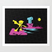teen titans Art Prints featuring Titans Go! by TerraBlack