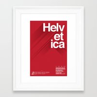 helvetica Framed Art Prints featuring Helvetica by Cohen McDonald