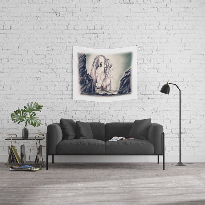 FATHER HORSE Wall Tapestry