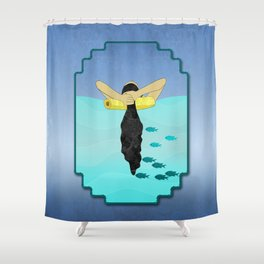 Floating Your Cares Away Shower Curtain