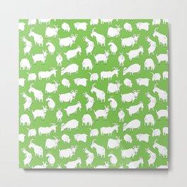 Green Goats Metal Print