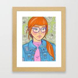 Pins & Glasses Framed Art Print
