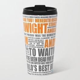 Office Orange and Blue Travel Mug