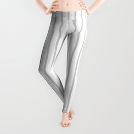 Dove Grey Pin Stripes on White Leggings