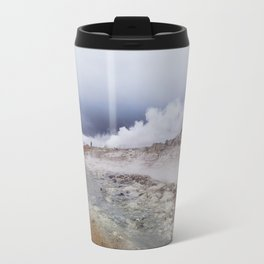 Man on the moon, Iceland Travel Mug