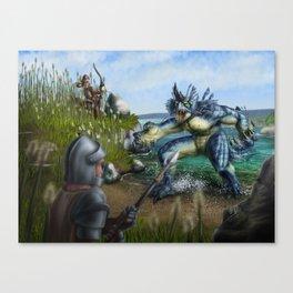 Lake Monster Canvas Print