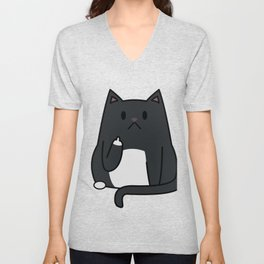 Cat Flipping Out Unisex V-Neck