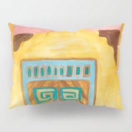 San Jose de Gracia Church Watercolor Pillow Sham