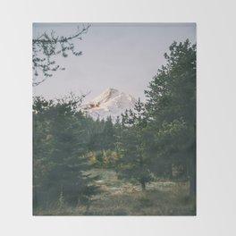 Mount Hood XIV Throw Blanket