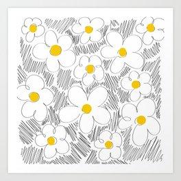 Wild daisy Art Print