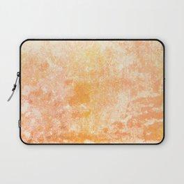 Marbling structur in warm orange tones Laptop Sleeve