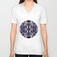 kaleidoscope V-neck T-shirts featuring Kaleidoscope by QUEQZZ