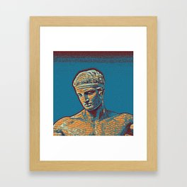 Hellenistic youth Poster Framed Art Print