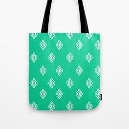 Pattern I Teal Tote Bag