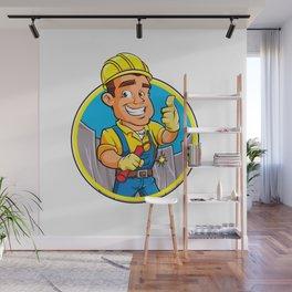 Cartoon man  with dynamite stick. Wall Mural